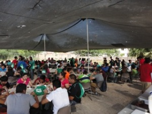 Eating area in Reynosa