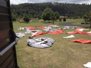 Drying tents for repackaging