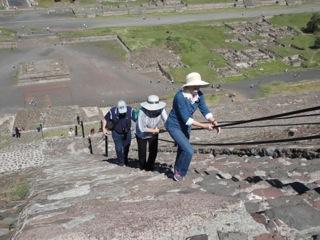 Climbing the Pyramid of the Sun