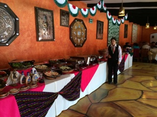 After Pyramids we ate at a good Mexican Buffet