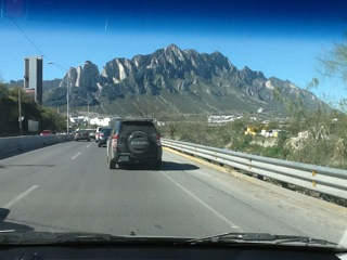 Mountains at Monterrey.  These are huge,all around.