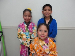 Varela Kids after the Japanese dance