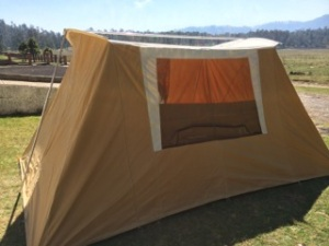 New tent at El Guarda